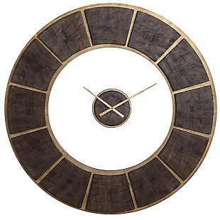 Uttermost Kerensa Wooden Wall Clock, , large