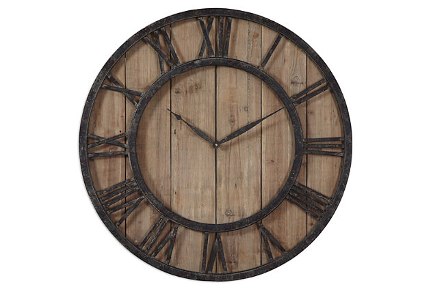 Uttermost Powell Wooden Wall Clock, , large