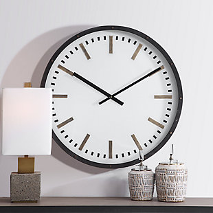 Uttermost Fleming Large Wall Clock, , rollover
