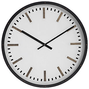 Uttermost Fleming Large Wall Clock, , large