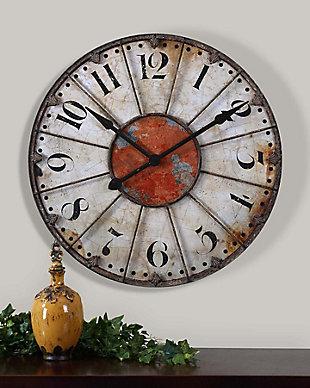 """Uttermost Ellsworth 29"""" Wall Clock, , rollover"""