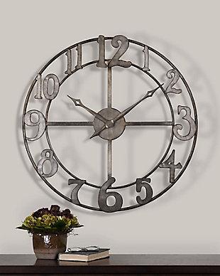 """Uttermost Delevan 32"""" Metal Wall Clock, , rollover"""