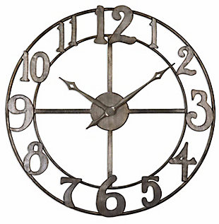 "Uttermost Delevan 32"" Metal Wall Clock, , large"