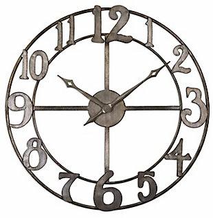 "Uttermost Delevan 32"" Metal Wall Clock, , large"