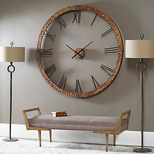 """Uttermost Amarion 60"""" Copper Wall Clock, , rollover"""