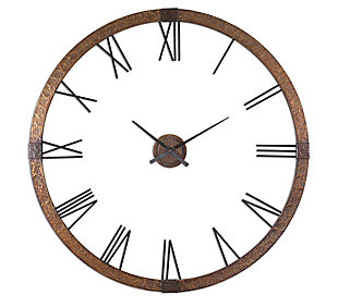 """Uttermost Amarion 60"""" Copper Wall Clock, , large"""