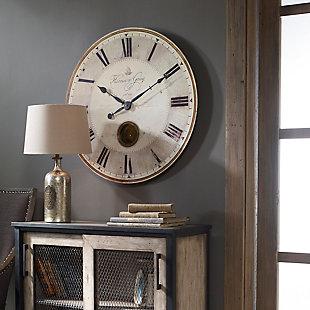 "Uttermost Harrison Gray 30"" Clock, , rollover"
