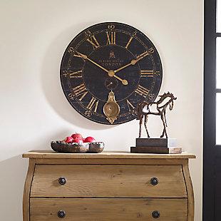 """Uttermost Bond Street 30"""" Black Wall Clock, , rollover"""