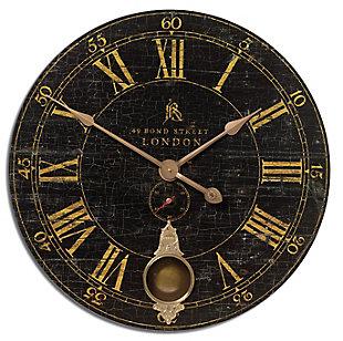 "Uttermost Bond Street 30"" Black Wall Clock, , large"