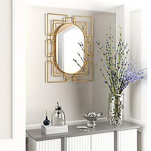 Gild Design House Deanna Gold Metal Mirror, , rollover