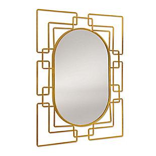 Gild Design House Deanna Gold Metal Mirror, , large