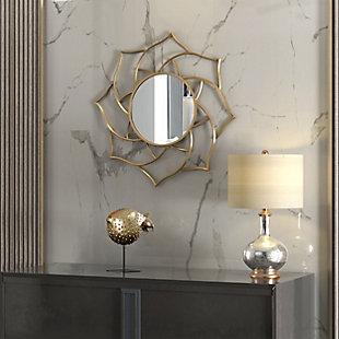 Gild Design House Charlotte Gold Metal Mirror, , rollover