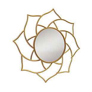 Gild Design House Charlotte Gold Metal Mirror, , large