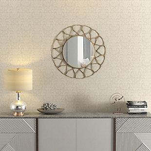 Gild Design House Mallory Gold Metal Mirror, , rollover