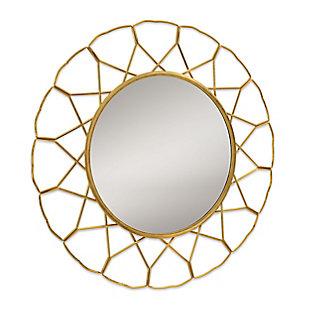 Gild Design House Mallory Gold Metal Mirror, , large