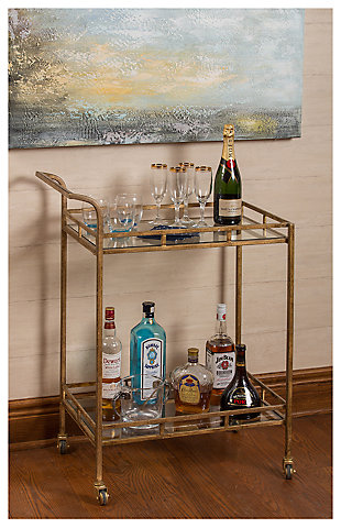 Large Home Accents Esther Bar Cart Rollover