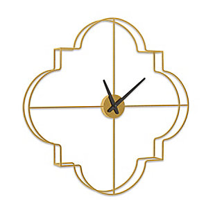 Gild Design House Morrissey, Gold Small Metal Wall Clock, Gold, large