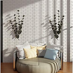 Gild Design House Strands of Eucalyptus Metal Wall Decor (Set of 2), , large