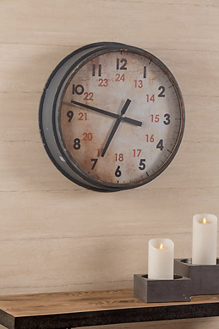 Home Accents Industrial Clock, , rollover