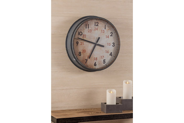 Gray Home Accents Industrial Clock View 2