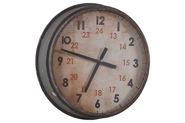 Wonderful Gray Home Accents Industrial Clock View 1