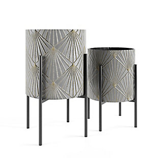 Yara Metal Floor Planters (Set of 2), , large