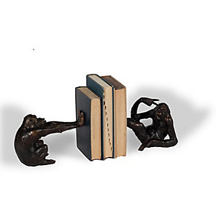 Mischievous Monkeys Bookends, , rollover