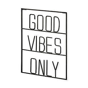 Good Vibes Only Sign, , large