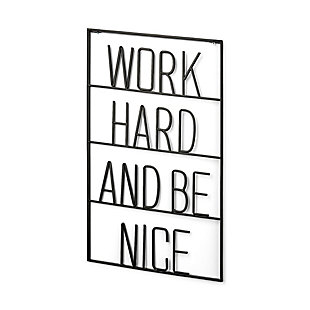 Work Hard and Be Nice Sign, , rollover