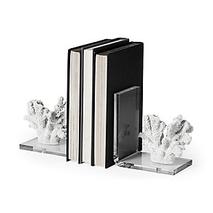 Delma White Coastal Coral Bookends (Set of 2), , large