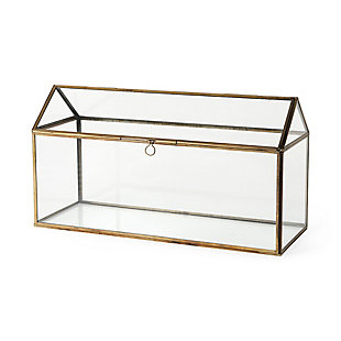 Hutt Gold Glass Terrarium Box, , rollover