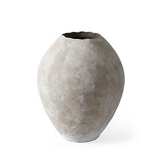 Gobi Small Tan Ceramic Oval Vase, , large