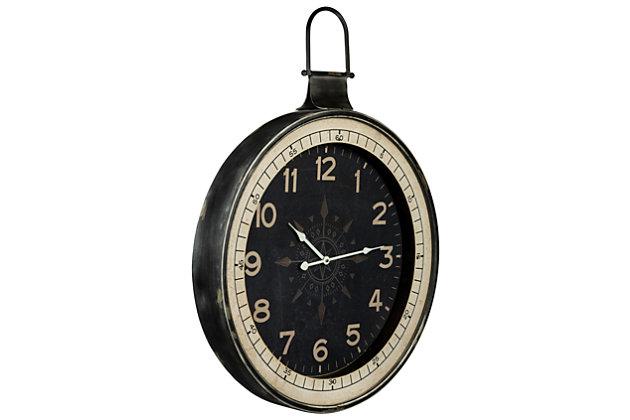 Black Home Accents Zocha Clock View 1