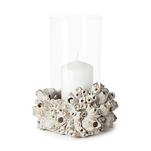 Marjorie I Small Resin Barnacle Table Candle Holder, , large