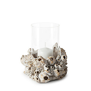 Marjorie II Large Resin Barnacle Table Candle Holder, , large
