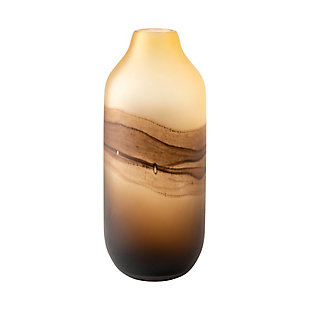 Pyla Tall Brown Glass Sand Dune Inspired Vase, , large