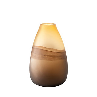 Pyla Large Brown Glass Sand Dune Inspired Vase, , large