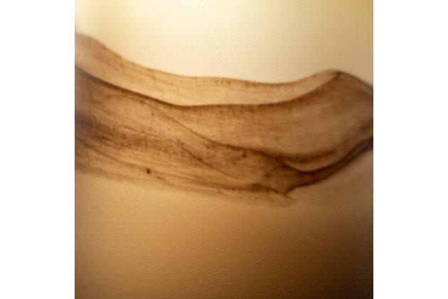 Pyla Large Brown Glass Sand Dune Inspired Vase, , large