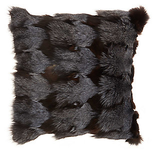 Modern Fox Fur Couture Pillow, , large