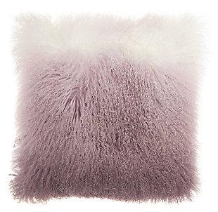 Modern Ombre Tibetan Lamb Fur Couture Pillow, , large