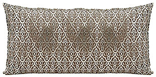 Modern Moorish Leaves Couture Pillow, , large