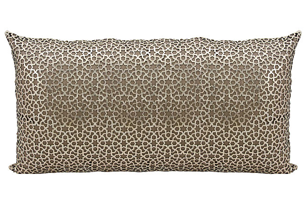 Modern Arabic Geometric Couture Pillow, , large