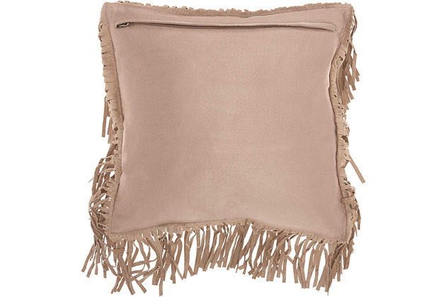 Modern Fringe Borders Couture Pillow, , large