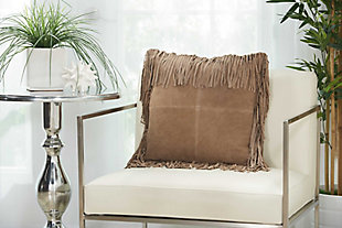 Modern Fringe Borders Couture Pillow, , rollover