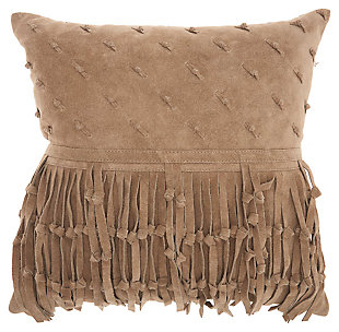 Modern Knots & Fringe Couture Pillow, , large