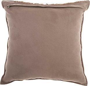 Modern Macrame Fring Tassel Couture Pillow, Beige, large