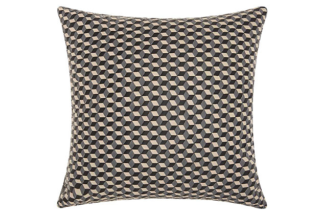 Modern Woven Cubes Couture Pillow, , large