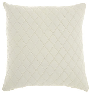 Modern Quilted Leather Couture Pillow, , large