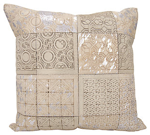 Modern Laser Cut Tiles Couture Pillow, , large