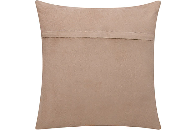 Modern Metallic Splash Couture Pillow, Beige/Gold, large